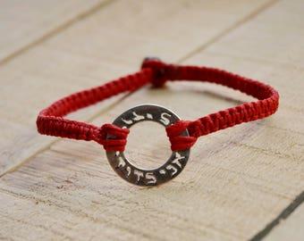 I Am My Beloved and My Beloved Is Mine Red Bracelet