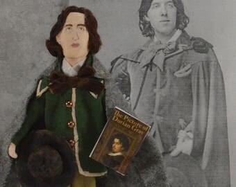 Oscar Wilde Doll- English Author- Classic Literature- Dorian Gray-Bibliophile Art