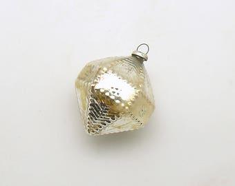 Vintage Christmas Ornament Glass Ornament Fancy Christmas Decoration