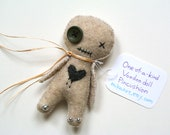 Voodoo Doll with Heart Handmade Voodoo Doll Pincushion Weird Gift Goth Decor Coworker Gift Cute Office Decor Worry Doll Halloween Decor