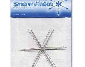 Beadsmith Wire Snowflake Ornament Form 3.75""