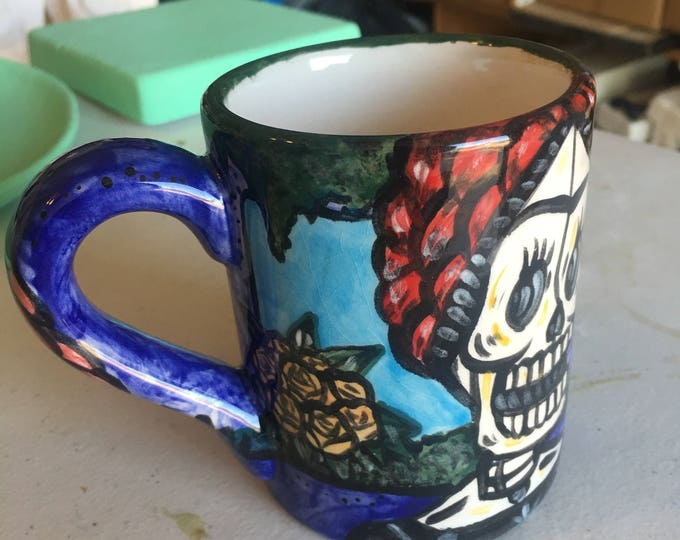 Day of the Dead Mug - Frida with Bird