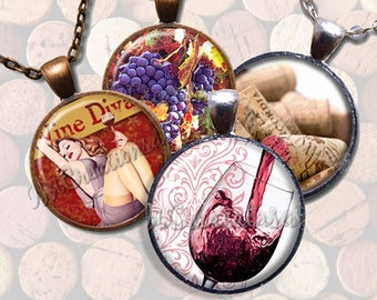 Wine Lovers Glass Pendant Necklace Jewelry Bundle Gift Party Favors Grab Bag Bulk Discount