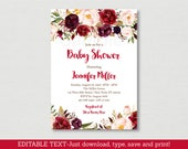 Fall Floral Baby Shower I...