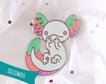 Axolotl Enamel Lapel Pin ~ Fairy Kei (SECONDS SALE)