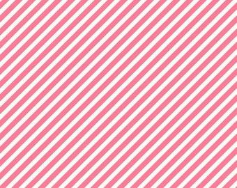 ON SALE On Trend by Jen Allyson for My Mind's Eye Raspberry Stripe