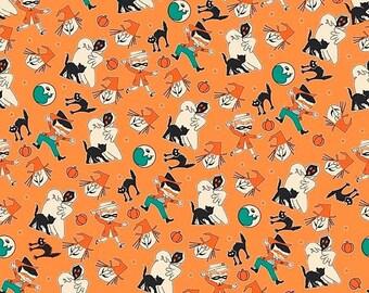 ON SALE Penny Rose Fabrics Trick or Treat Toss Orange