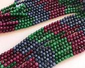 Natural Raw Ruby, Emerald & Sapphire Beads-Precious Gemstone Bead Strand