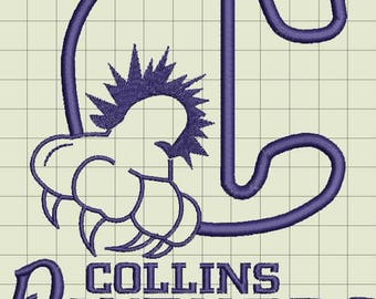 Collins Panthers Custom Digitized Embroidery Design (private listing)