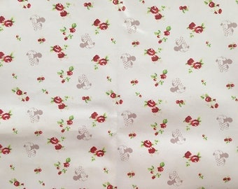 4641 - Minnie & Rose Oilcloth Waterproof Fabric - 28 Inch (Width) x 17 Inch (Length)