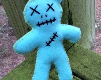 Baby Blue Voodoo / Hoodoo Doll Keychain