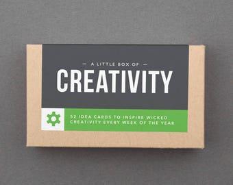 "Fun Gift for Coworker, Woman, Friend, Her, Artist. Creative, Unique, Artistic. Under 20. Affordable, Secret Santa. ""Creativity Box"" (L5CRE)"