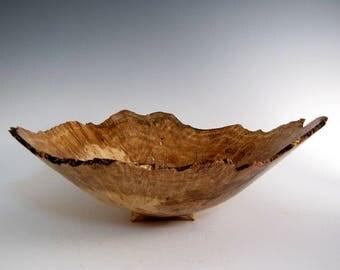 oak burl wood turned bowl artistic wood bowl lathe turned bowl wood turning