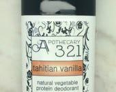 Tahitian Vanilla Natural Deodorant, Aluminum Free, Paraben Free Vegan Deodorant Vanilla Deodorant
