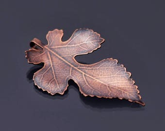 Small Mulberry Leaf Copper Ornament