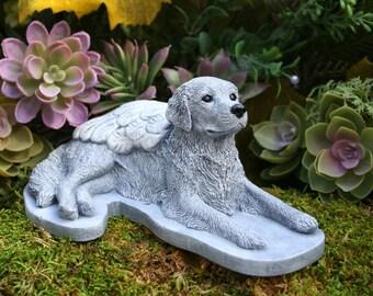 Poodle Angel Dog Statue Concrete Pet Memorial