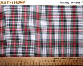 SUMMER SALE Victoria mini tartan brushed cotton fabric 0.50 metre