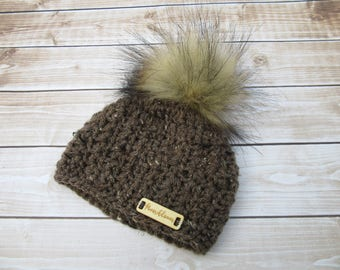 Chunky Baby Hat with Pom Pom, Newborn Winter Hat, Baby Beanie, Infant Beanie, Baby hats with pom poms, Newborn Boy Hat, Coming Home Hat