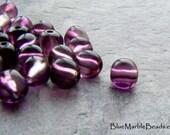 Nugget Bead, Boho Bead, Violet, Purple Bead, Translucent, Vintage Bead, Lucite Bead, Small Bead,  Boho Bead, 7mm, 50 Beads
