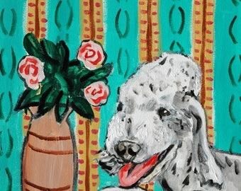 20 % off storewide Bedlington Terrier signed dog art print animals impressionism fauvism artist gift new