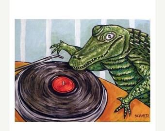 20% off storewide Alligator DJ Art Print