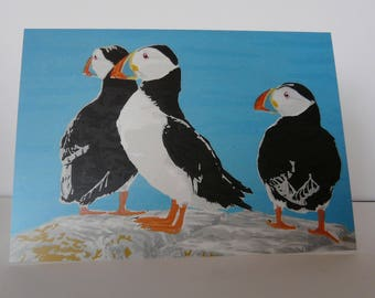 Greeting Cards Pack Puffins
