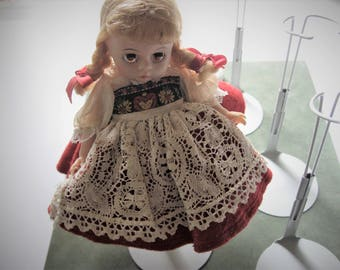 Vintage Swiss Alexander Doll with Stand