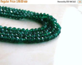 Deep Discount Sale Green Onyx Rondelle Emerald Faceted Rondelle 3mm 130 FULL Strand