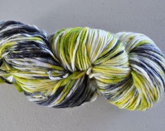 Lime Cordial.  Handpainted Superwash Merino Yarn 1 ply Worsted Weight