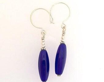 OnSale Cobalt Czech Glass Earrings