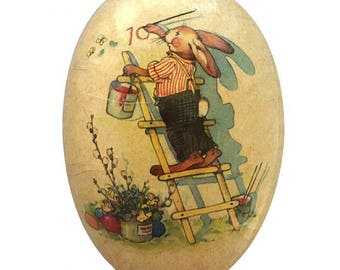 Germany Papier Paper Mache Easter Egg Box  3.5 Inch  521P