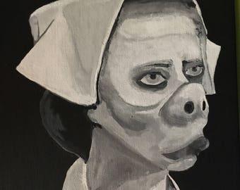 Eye of the Beholder Twilight Zone Painting