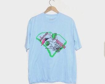 1980s t shirt / vintage 80s tshirt / extra large xl / Hurricane Hugo T-Shirt