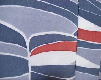 Vintage haori S917, greys blues, silk