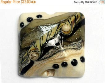ON SALE 30% off Dreamers Stardust Pillow Focal Bead - Handmade Glass Lampwork Bead 11831004