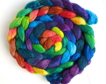 Merino/ Superwash Merino/ Silk Roving (Top) - Handpainted Spinning or Felting Fiber, Storm's End