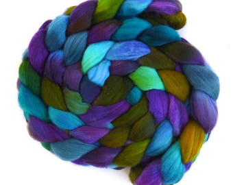 Quilter's Magic, Rambouillet Wool Roving - Hand Painted Spinning or Felting Fiber