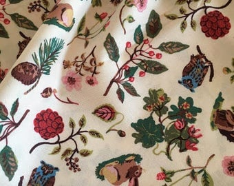 """1/2 YD-Nathalie Lete Design Fabric-cotton fabric """"Forest"""""""