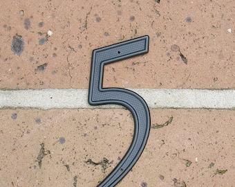 Vintage Sign Vintage House Number Sign Vintage Number 5 Five Sign Vintage Metal Number 5 Five Sign