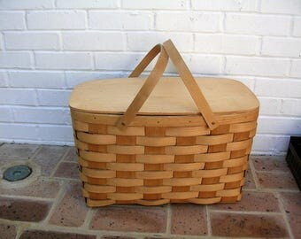 Vintage Basket Vintage Picnic Basket Vintage Keebler Town House Crackers Basket