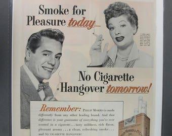 "Mov 176   ""  Phili Morris Cigaretes   ""  Ad -  April  1952"