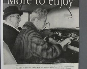 MISC  #116    Motorola Radio     Magazine Ad -   April 1958