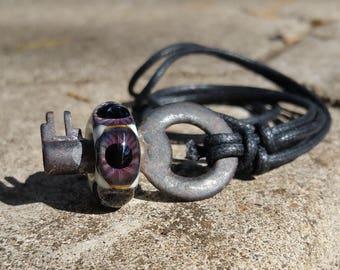 Purple Eyeball Skeleton Key