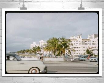 Mid Century, Miami, Florida, Vintage, Retro, Miami Beach, Cadillac, Midcentury, Fine Art Photography, Home Decor, Wall Art, Gift