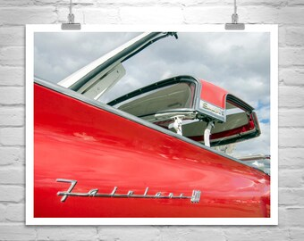 Ford Fairlane, Car Photo, Ford Skyliner, Ford Car Art, Ford Photographs, Vintage Fords, Automobile Art, Red Car, Mid Century, Canvas Photo