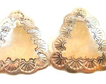 Vintage Southwestern style sterling earrings, Mexico 5