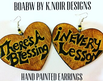 There's A Blessing in Every Lesson Earrings