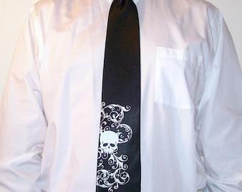 Wedding neckties 8 Men's microfiber skull ties Print to order in colors of your choice by RokGear