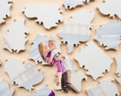 RESERVED Puzzle Wedding Guest Book, 80 Wood Pieces, Use Your Photo