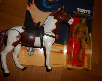 The Lone Ranger- Tonto and horse Scout Action Figures